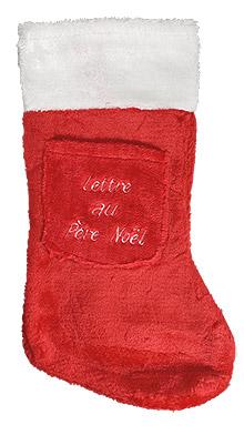 Botte Chaussette Noël Rouge Pas Cher