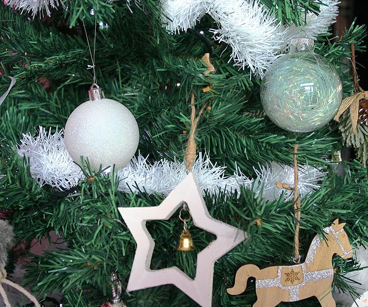Boule Blanche Pailletée Noël Décoration Sapin