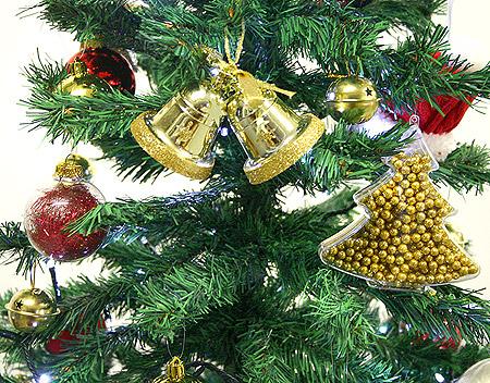 Cloches dorées déco sapin noel