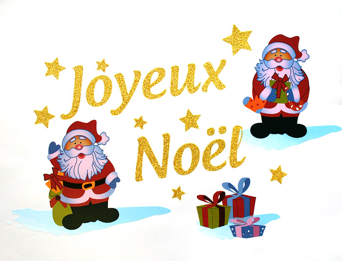 le sticker g ant fen tre paillettes joyeux noel noel. Black Bedroom Furniture Sets. Home Design Ideas