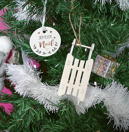 Décoration Noel Paquet Cadeau Argenté