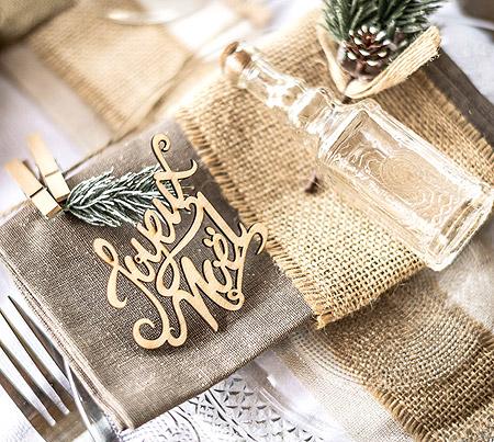 Décoration Serviette Joyeux Noel
