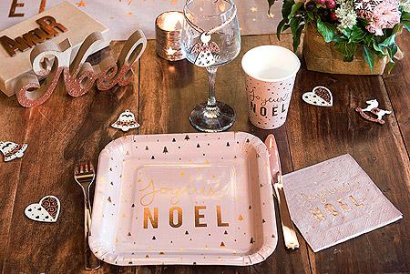 Decoration de Table Noel Blush Cuivré
