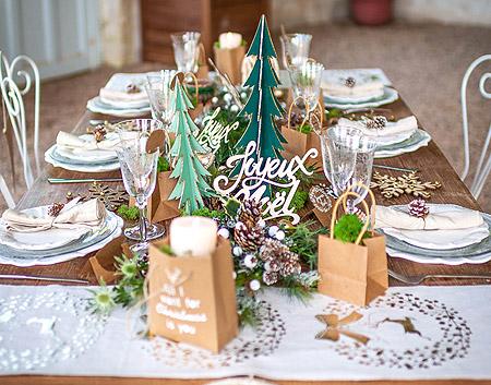 Decoration de Table Noel Theme Champetre