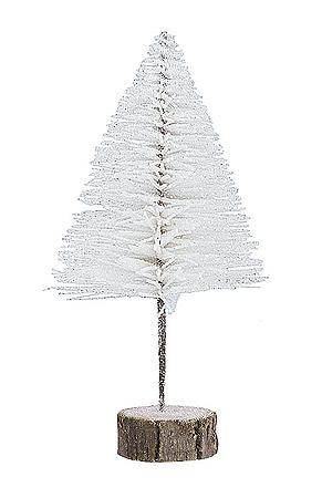 Grand Sapin Pailleté Blanc Neige Noël