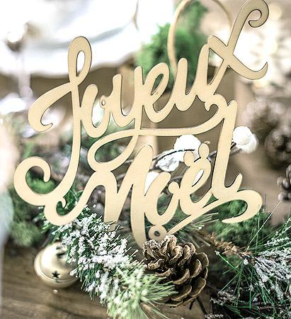 Grande Lettre Joyeux Noel decoration Table