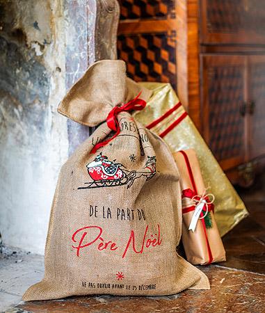Hotte Cadeaux Noel Jute Pas Cher