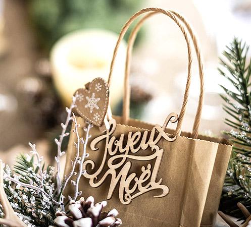 DIY Sac Cadeaux Joyeux Noel