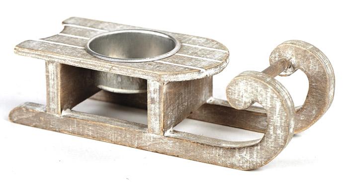 la luge en bois c rus porte bougie noel. Black Bedroom Furniture Sets. Home Design Ideas