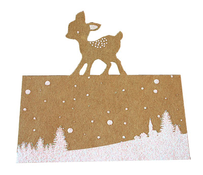 Chevalet Marque Place Kraft Bambi Noël