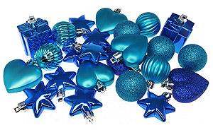 Deco noel bleu turquoise