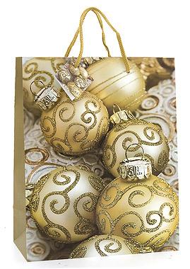 Le grand sac cadeau boules de noel paillettes dor es noel - Sac cadeau noel ...