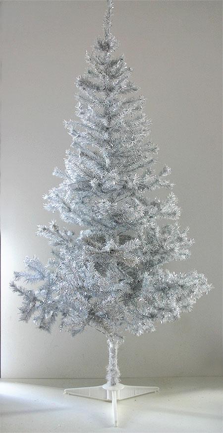 Le Sapin De Noel Artificiel Blanc Argent 233 1m80 Avec Pied