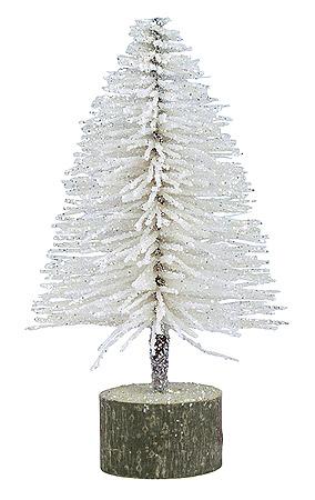 Petit Sapin Pailleté Blanc Neige Noël