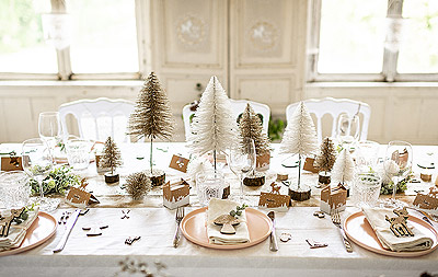 Décoration de Table Noël Magique Pailleté
