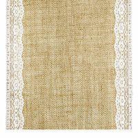 Chemin de Table Jute Bordure Dentelle