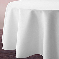 Nappe Ronde Blanche Tissu Polyester 3m
