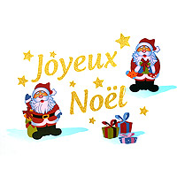 Catalogue produit decoration de noel for Sticker fenetre noel